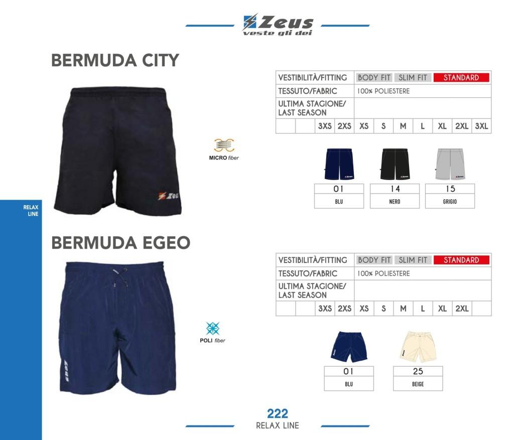 Odzież Zeus Relax Bermuda City i Egeo