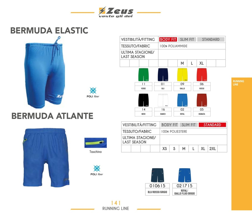 Komplety do biegania Bermuda Elastic i Atlante