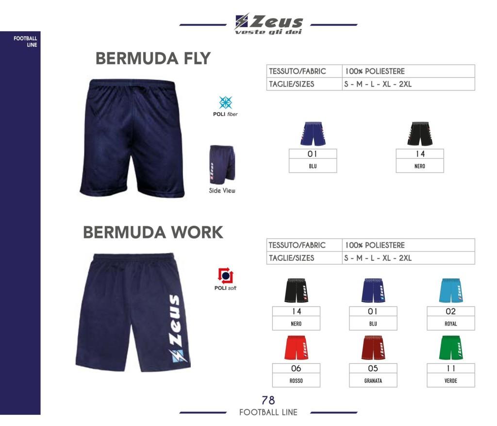 Stroje piłkarskie Zeus Bermuda Fly i Bermuda Work