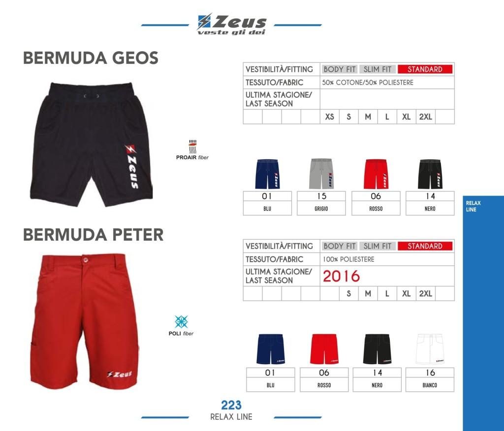Odzież Zeus Relax Bermuda Geos Peter