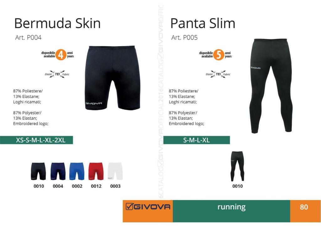 Stroje do biegania Givova Bermuda Skin i Panta Slim