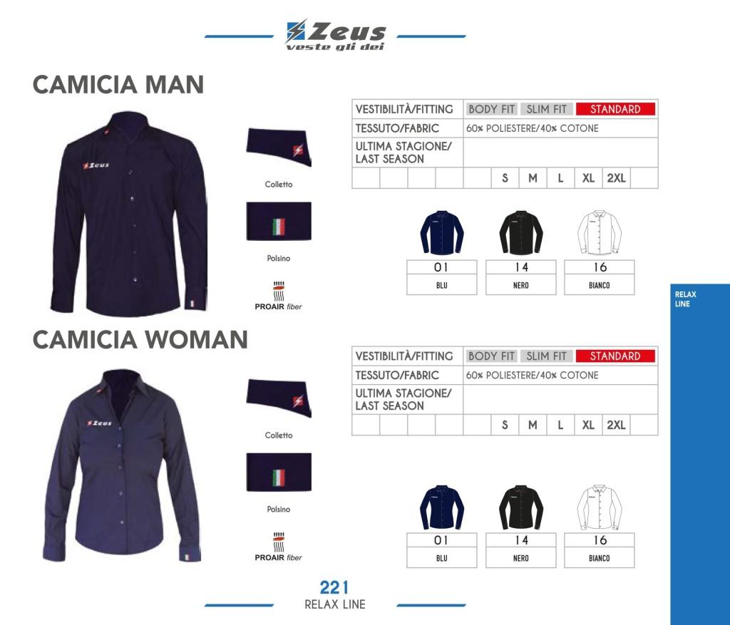Odzież Zeus Relax Camicia Man Woman