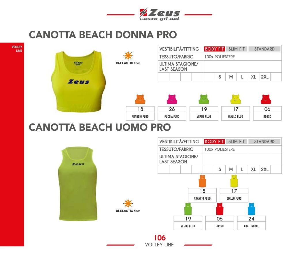 Stroje siatkarskie Zeus Canotta Beach Donna i Uomo Pro