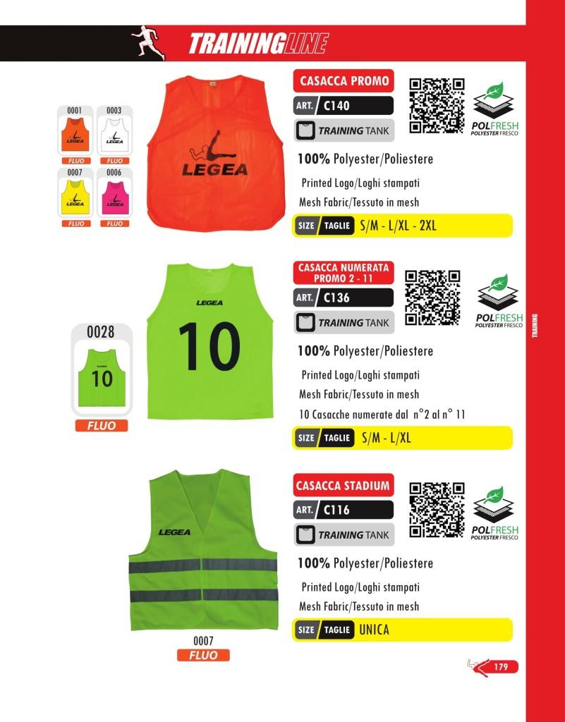 Odzież treningowa Legea Casacca Promo, Numerata Promo 2-11 i Stadium