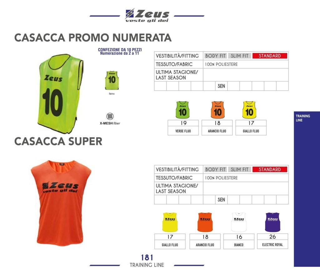 Odzież treningowa Zeus Casacca Promo Numerata i Super