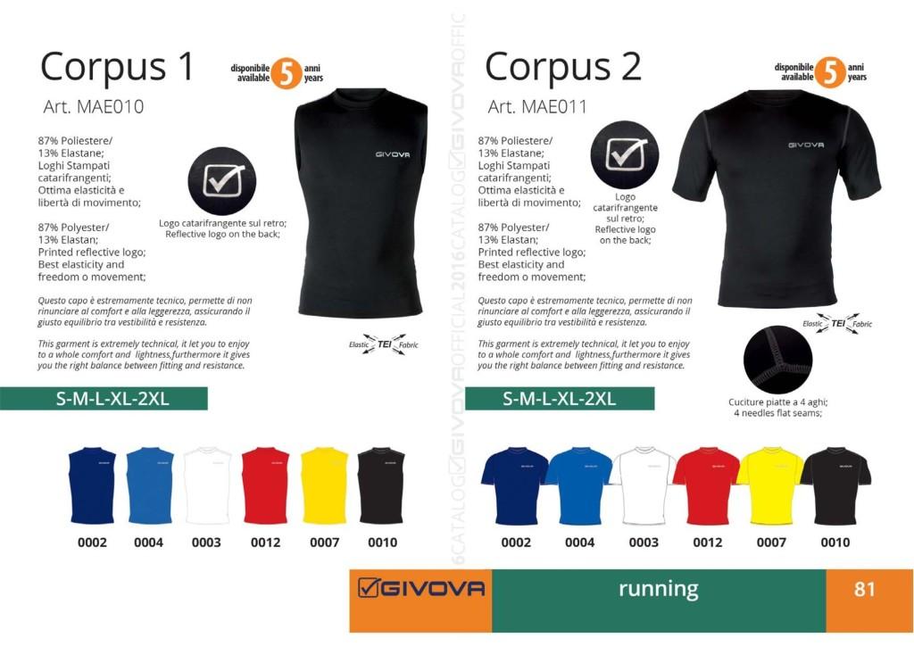 Komplety do biegania Givova Corpus 1 i 2