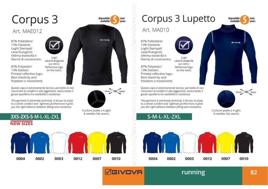 Stroje do biegania Givova Corpus 3 i Corpus 3 Lupetto