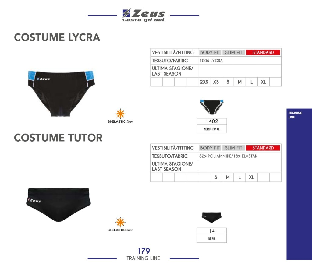 Odzież treningowa Zeus Costume Lycra Tutor