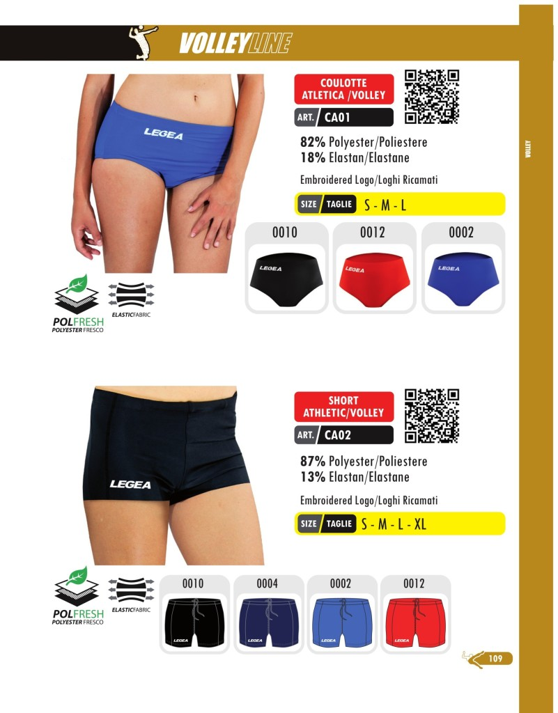 Komplety siatkarskie Legea Coulotte Atletica i Short Atletic