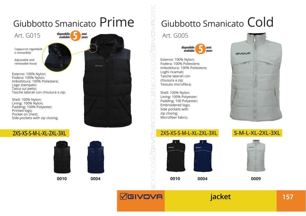 Kurtka Givova Giubbotto Smanicato Prime i Cold
