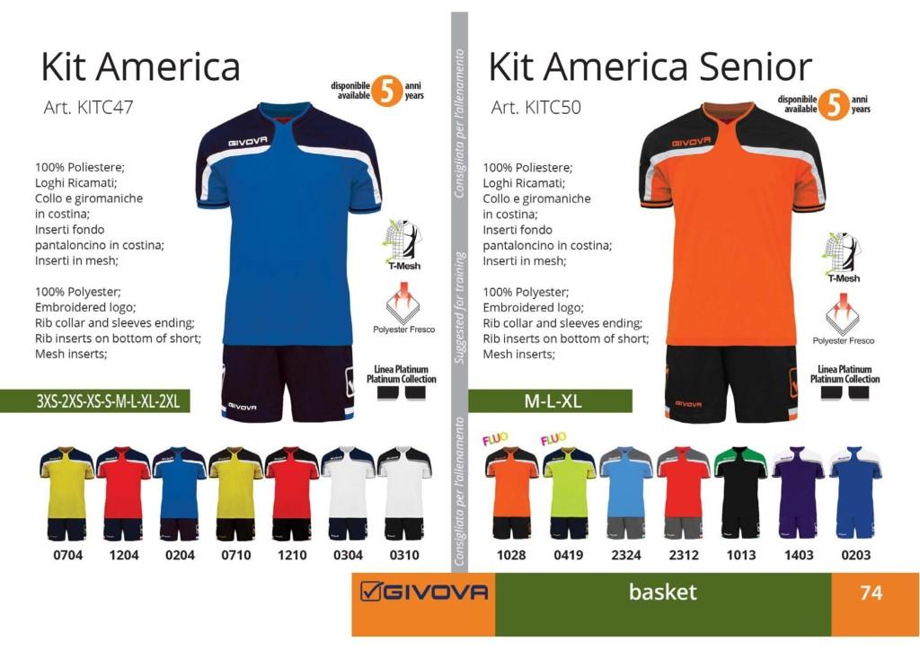 Komplety koszykarskie Givova Kit America Senior