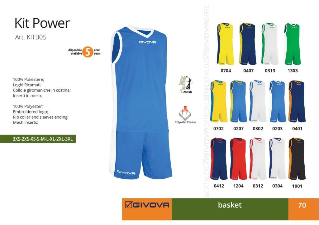 Komplety koszykarskie Givova Kit Power