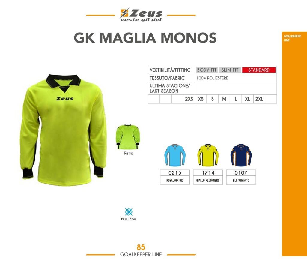 Stroje piłkarskie Zeus Gk Maglia Monos