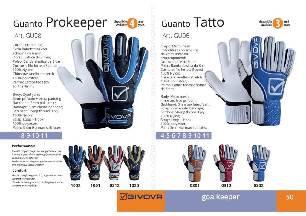 Komplety piłkarskie Givova Guanto Prokeeper i Tatto