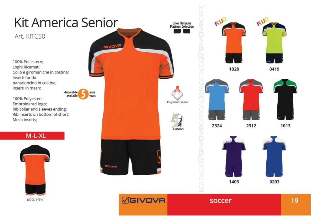 Komplety piłkarskie Givova Kit America Senior
