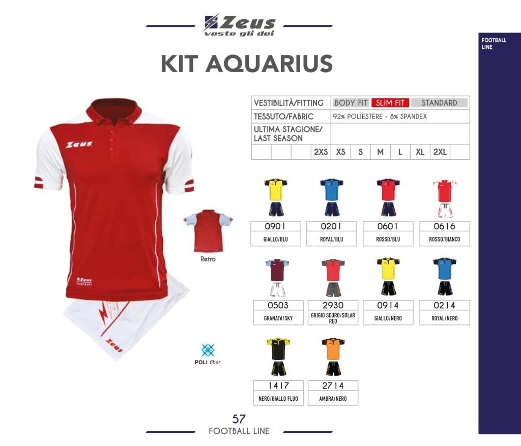 Komplety piłkarskie Zeus Kit Aquarius
