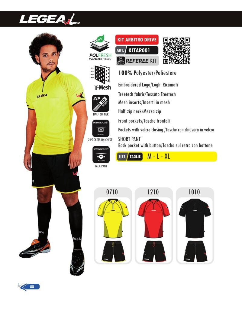 Stroje piłkarskie Legea Kit Arbitro Drive