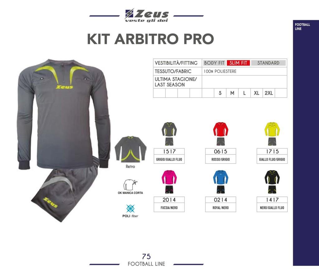 Komplety piłkarskie Zeus Kit Arbitro Pro