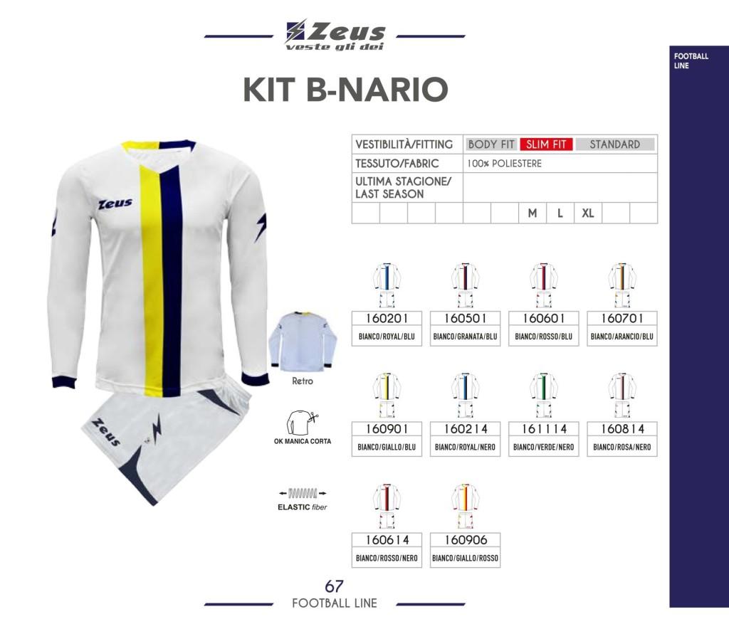 Komplety piłkarskie Zeus Kit B-nario