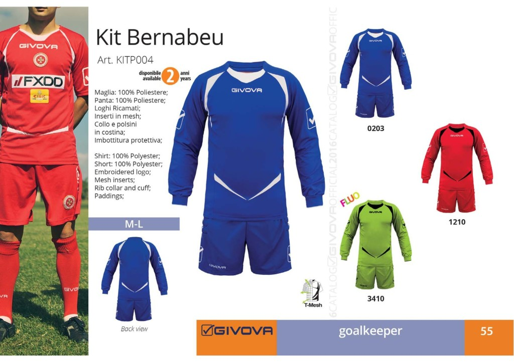 Komplety piłkarskie Givova Kit Bernabeu