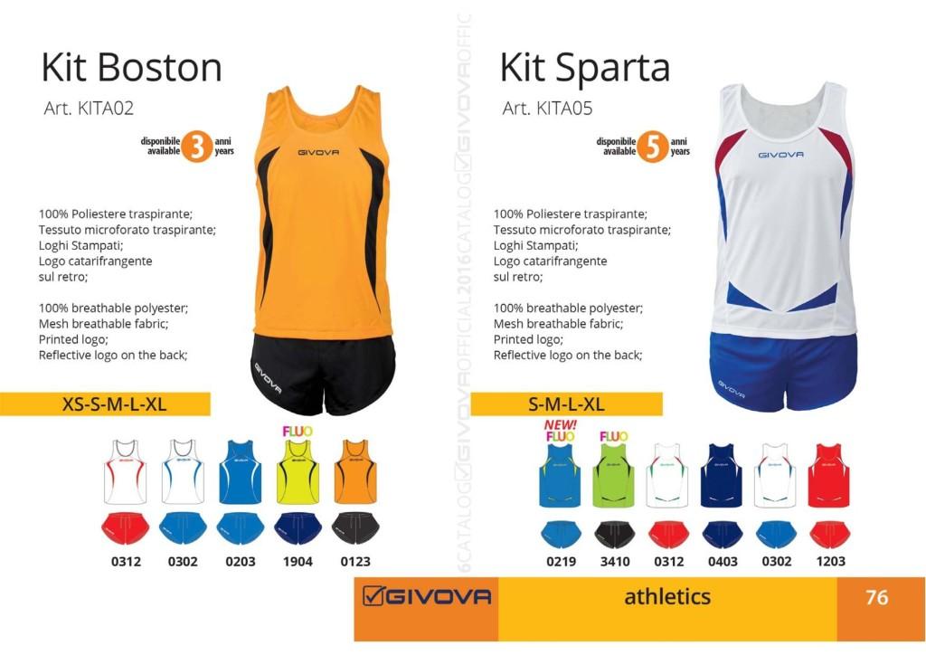 Stroje do biegania Givova Kit Boston Sparta
