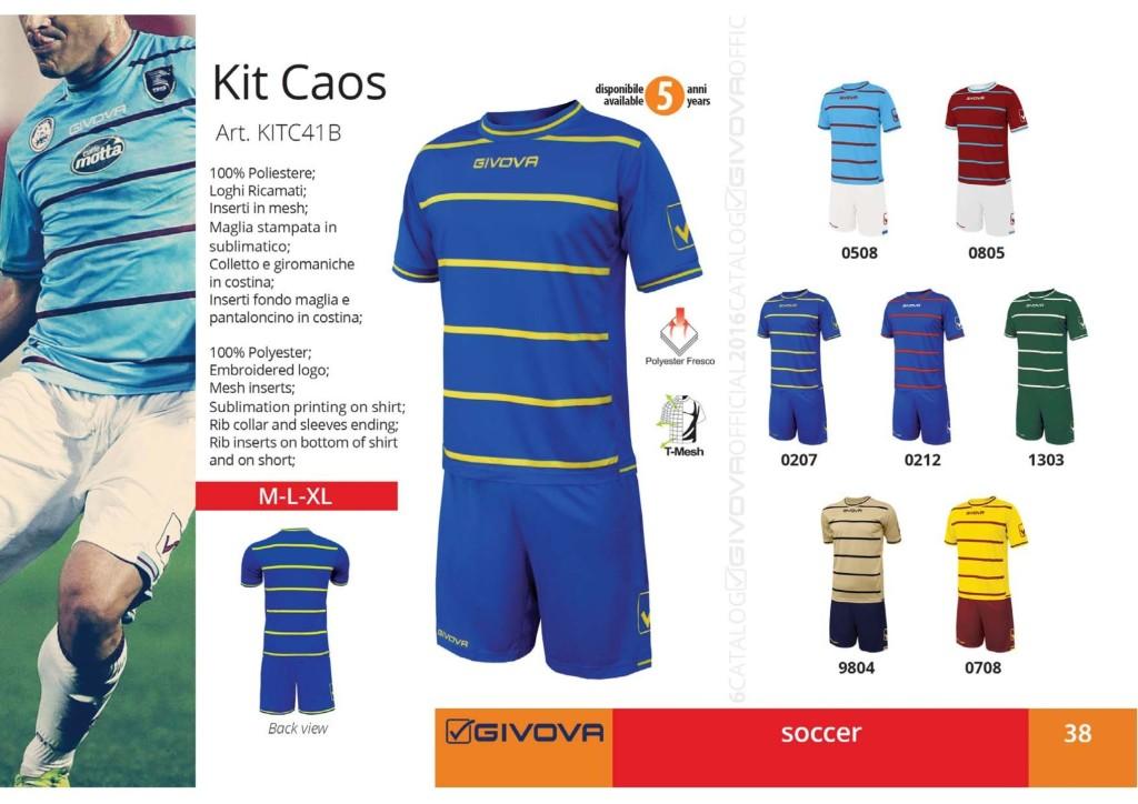Komplety piłkarskie Givova Kit Caos