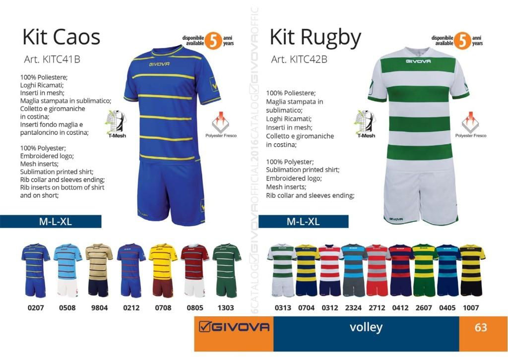 Komplety siatkarskie Givova Kit Caos i Rugby