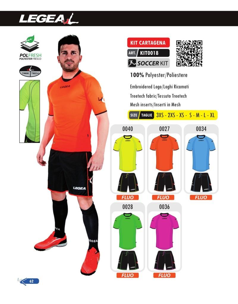Stroje piłkarskie Legea Kit Cartagena