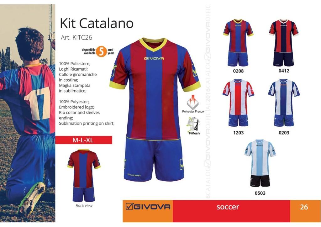 Komplety piłkarskie Givova Kit Catalano