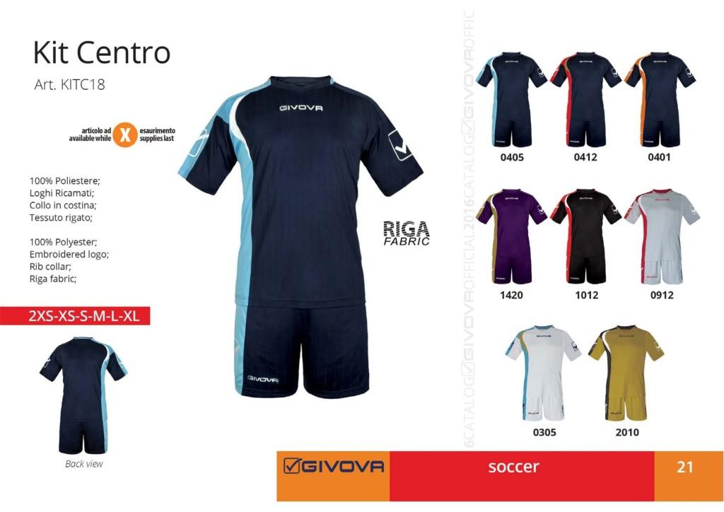Komplety piłkarskie Givova Kit Centro