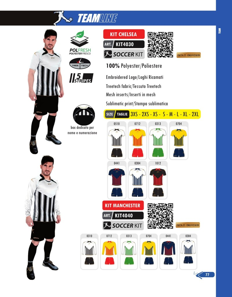 Komplety piłkarskie Legea Kit Chelsea i Manchester
