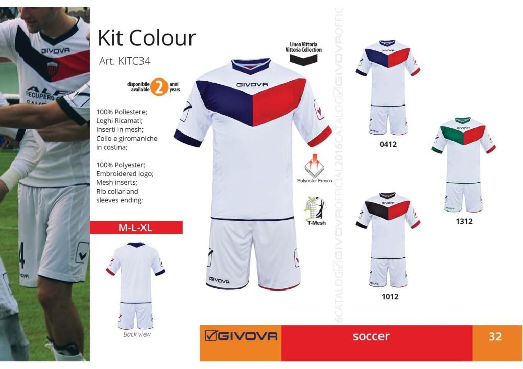 Komplety piłkarskie Givova Kit Colour