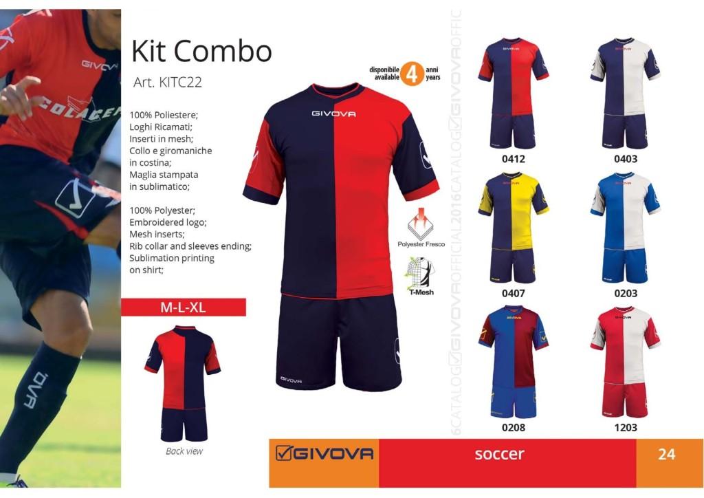 Komplety piłkarskie Givova Kit Combo
