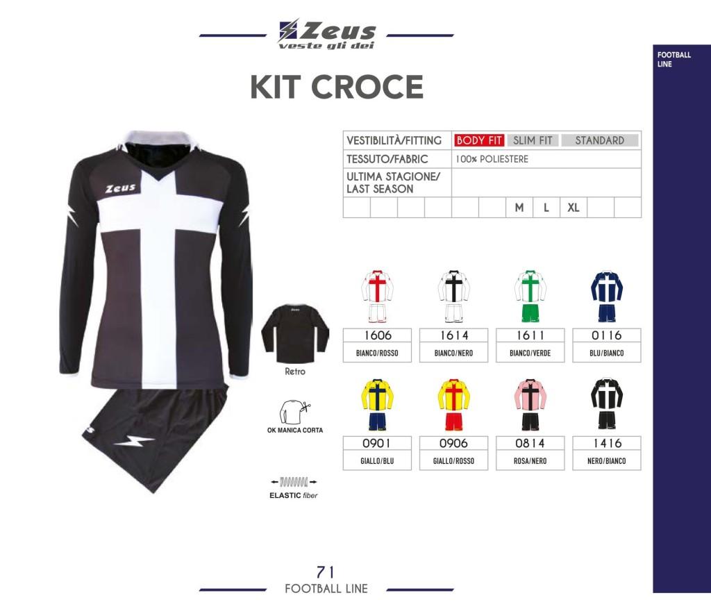 Komplety piłkarskie Zeus Kit Croce