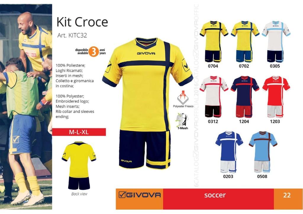 Komplety piłkarskie Givova Kit Croce