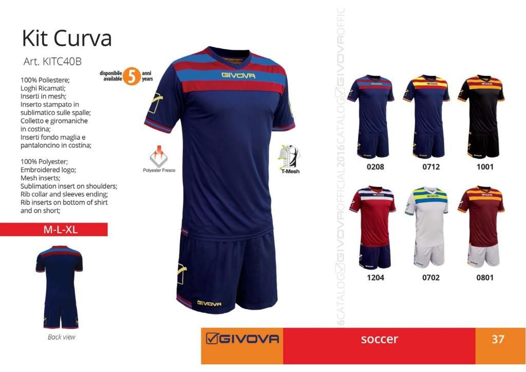 Komplety piłkarskie Givova Kit Curva