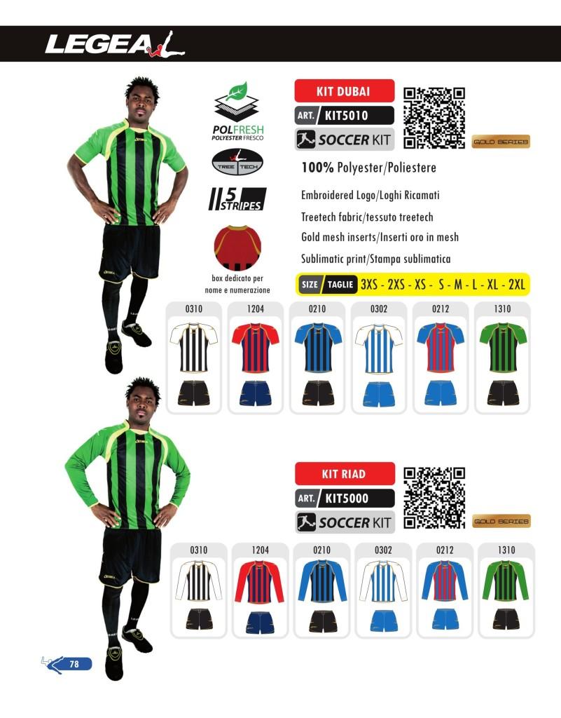 Stroje piłkarskie Legea Kit Dubai i Riad