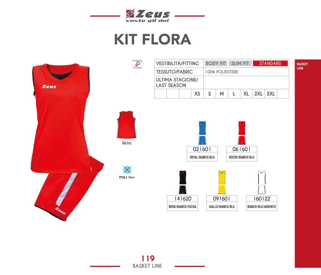 Komplety koszykarskie Zeus Kit Flora
