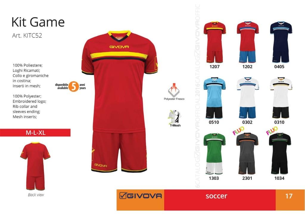 Komplety piłkarskie Givova Kit Game