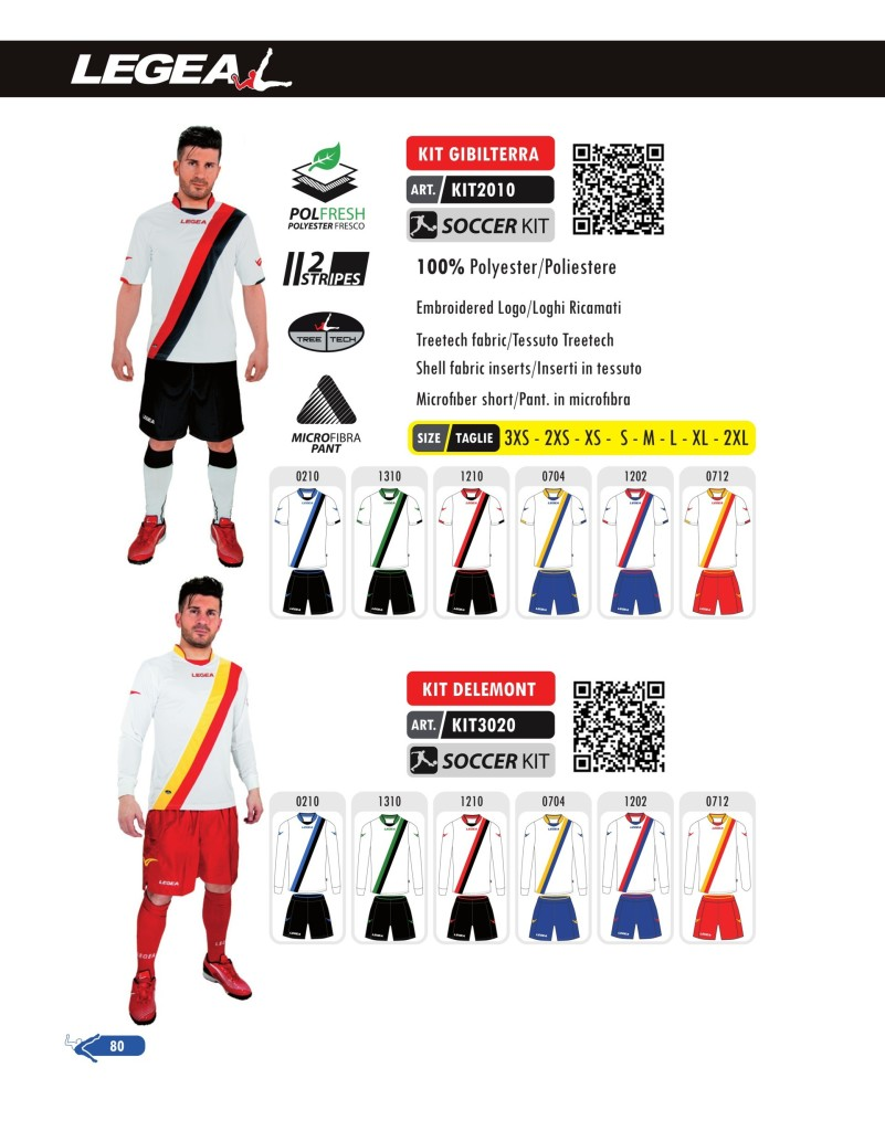 Stroje piłkarskie Legea Kit Gibilterra i Delemont
