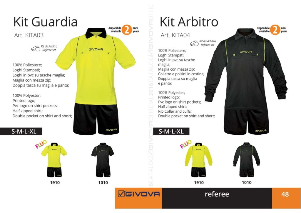 Komplety piłkarskie Kit Guardia