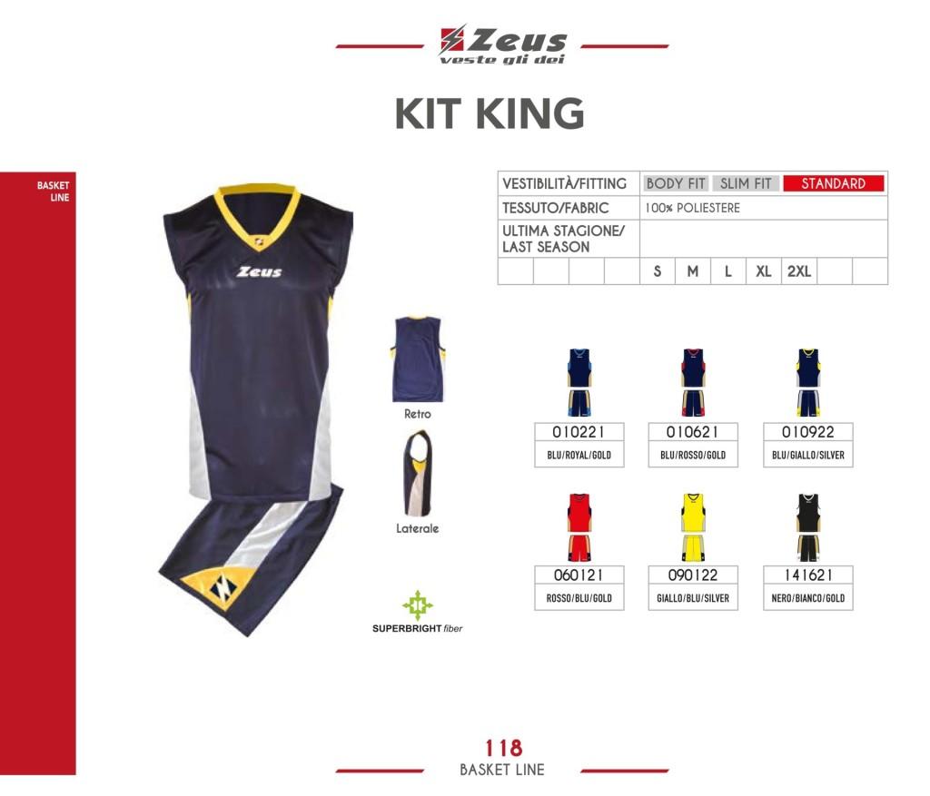 Stroje koszykarskie Zeus Kit King