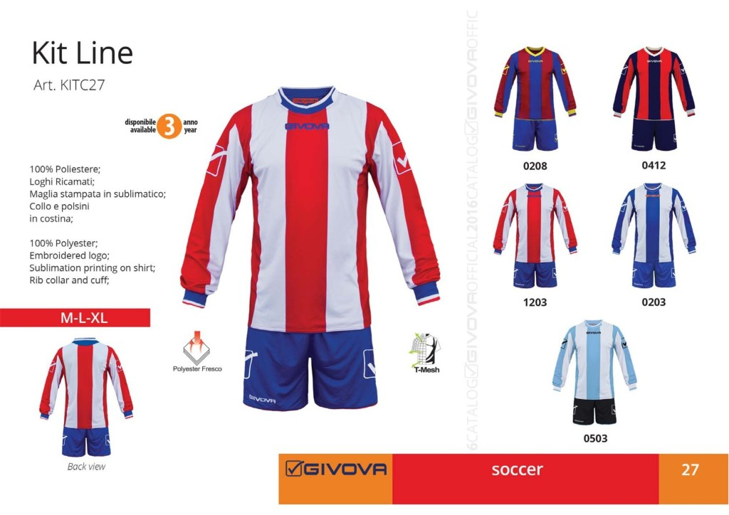 Komplety piłkarskie Givova Kit Line