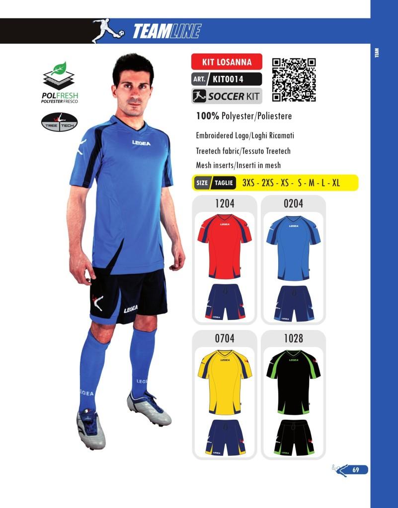 Komplety piłkarskie Legea Kit Losanna