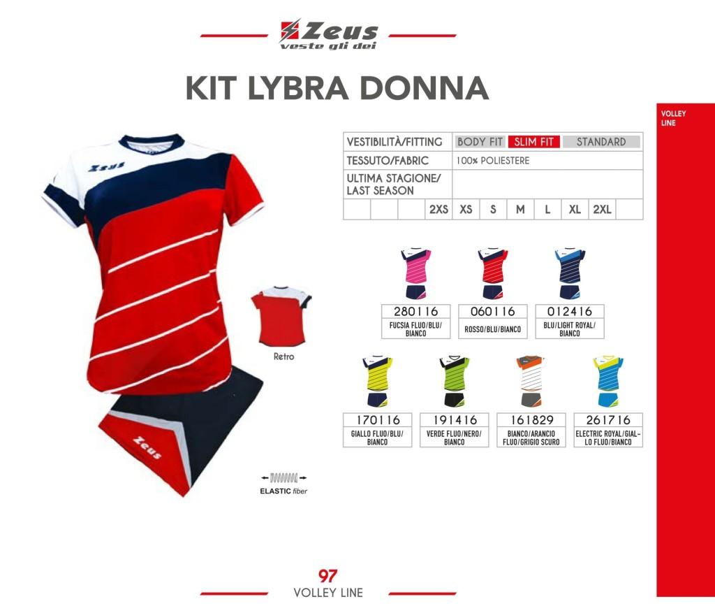 Komplety siatkarskie Zeus Kit Lybra Donna