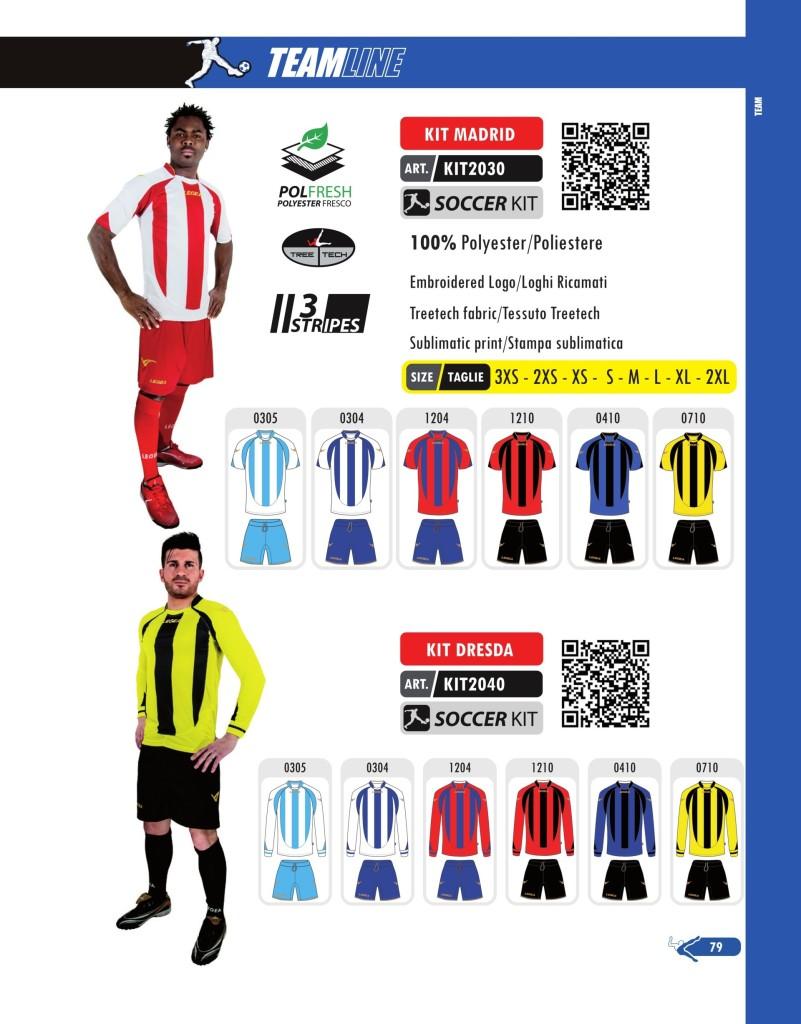 Komplety piłkarskie Legea Kit Madrid i Dresda