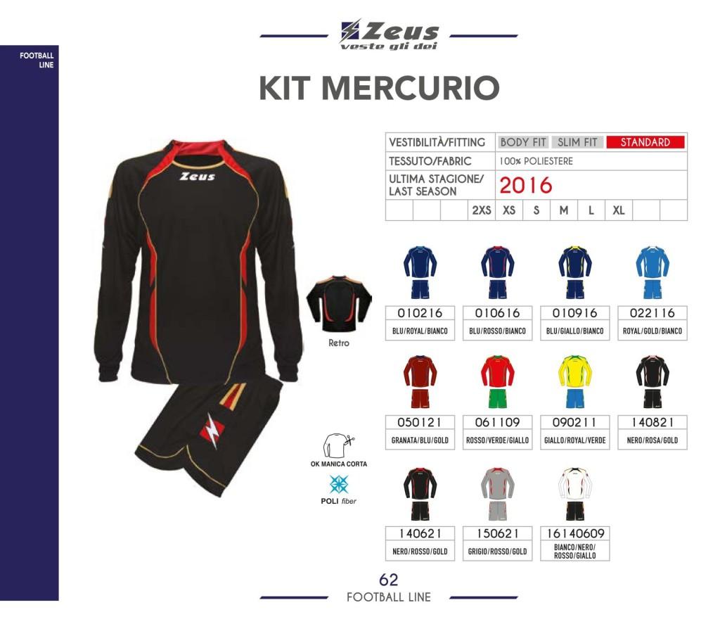 Stroje piłkarskie Zeus Kit Mercurio