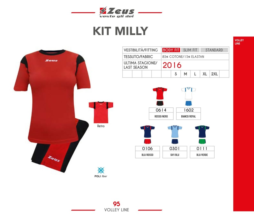 Komplety siatkarskie Zeus Kit Milly