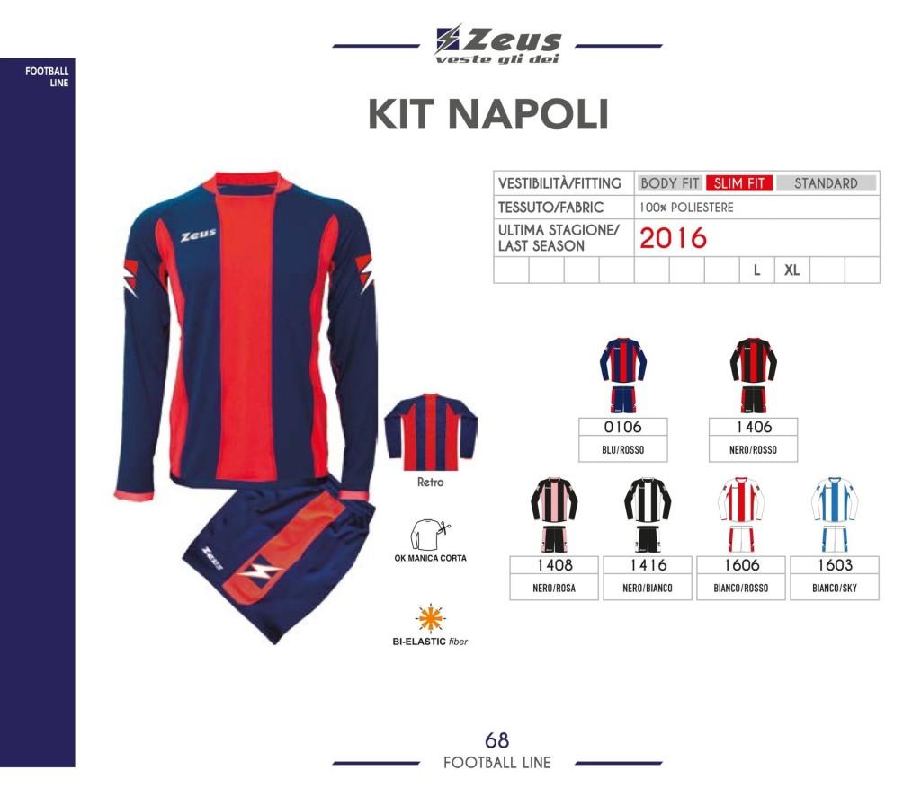 Stroje piłkarskie Zeus Kit Napoli