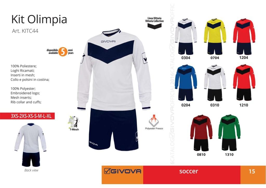 Komplety piłkarskie Givova Kit Olimpia